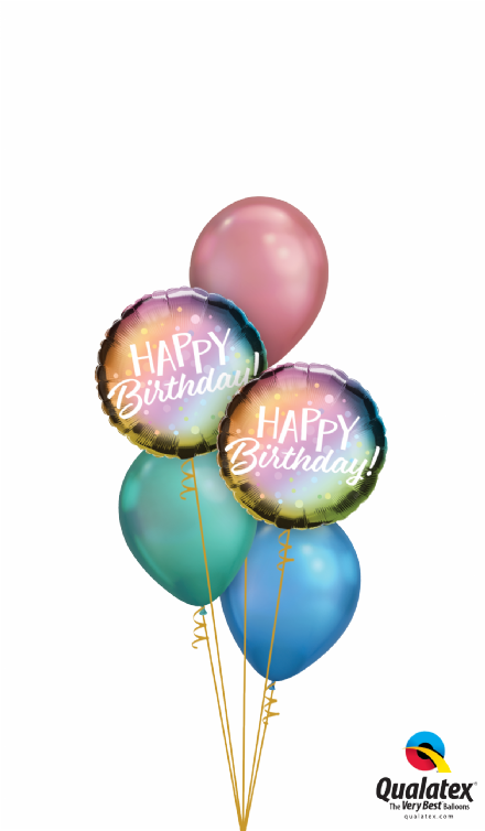 Happy Birthday Ombre Dots Bouquet